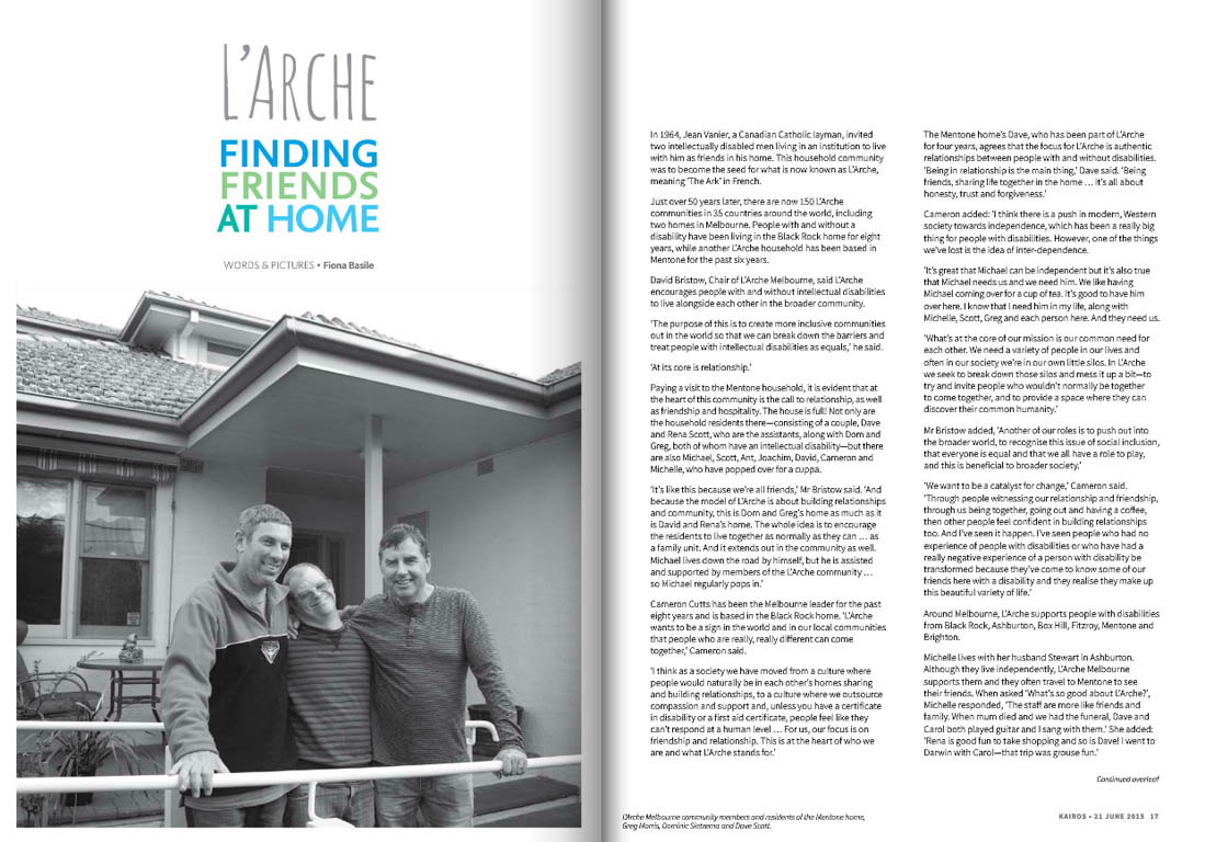 Kairos_2015_Issue11_L'Arche Melbourne