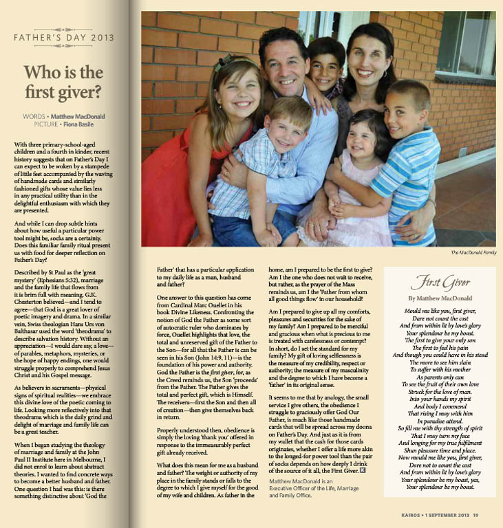 Kairos_2013_Issue16_Matt MacDonald Family