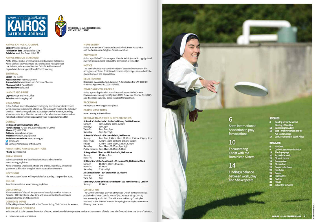 Kairos_2015_Issue17_Dominican Sisters_Index
