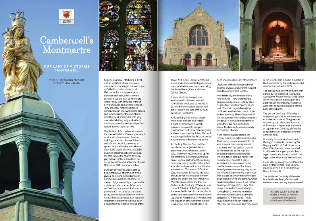 Kairos_2015_Issue23_Our Lady of Victories Camberwell